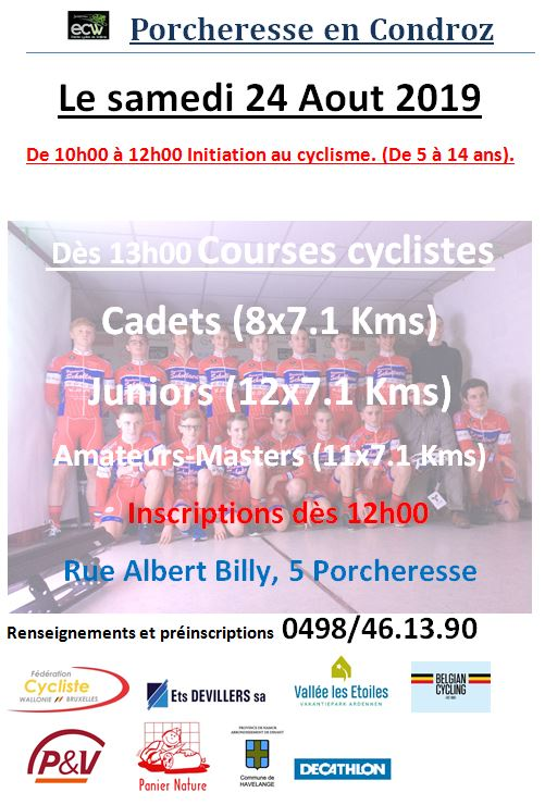 cyclisme Porcheresse 24082019 flyer web